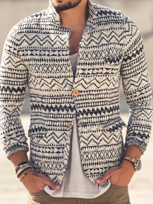 Geometric Standard Casual Men's Sweater