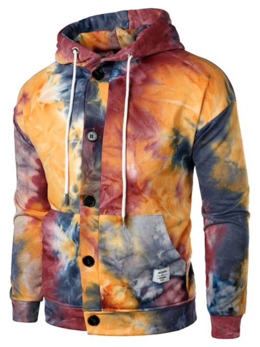 Cardigan Tie-Dye Hooded Men's Hoodies