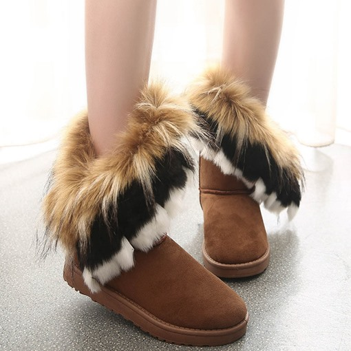 Slip-On Round Toe Flat With Purfle Boots