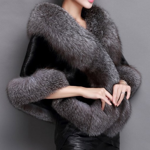 Fur Ladylike Shawl Scarves