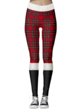 Western Christmas Color Block Women's Leggings
