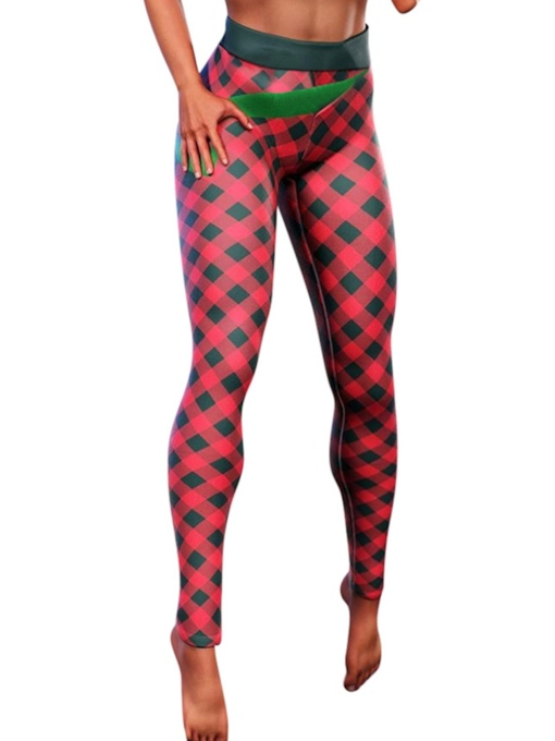 Sport Plaid Weihnachten Frauen Leggings