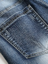 Straight Worn Casual Men's Jeans