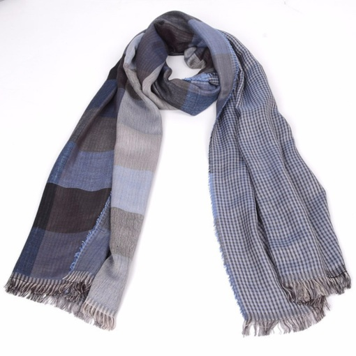 Korean Style Scarf Tassel Plaid Scarves