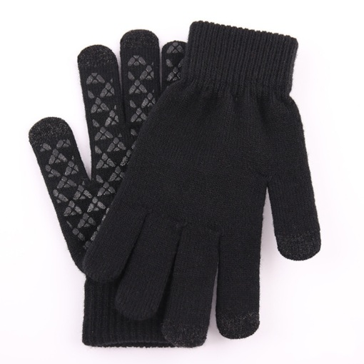 Simple Color Block Winter Gloves