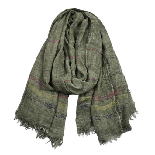 Tassel Simple Scarf Stripe Scarves