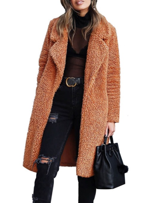 Patchwork Loose Fall Women's Overcoat