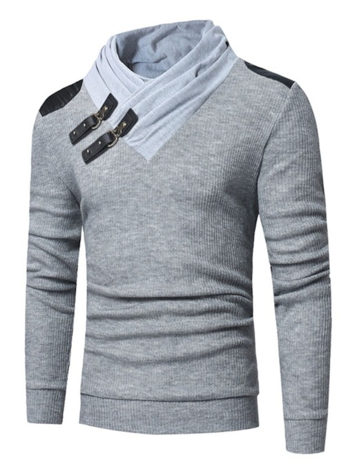 Standard Color Block Patchwork Winter Men's Sweater