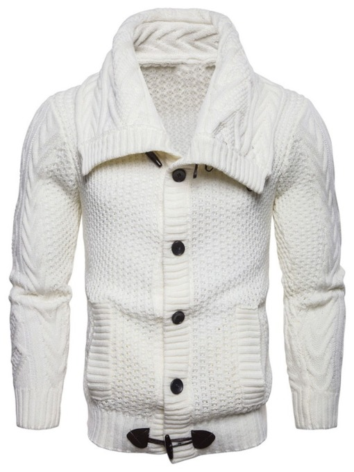 Button Standard Lapel Fall Men's Sweater
