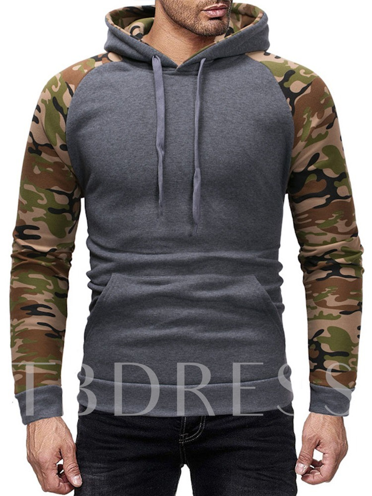Pullover Camouflage Print Pullover Men's Hoodies