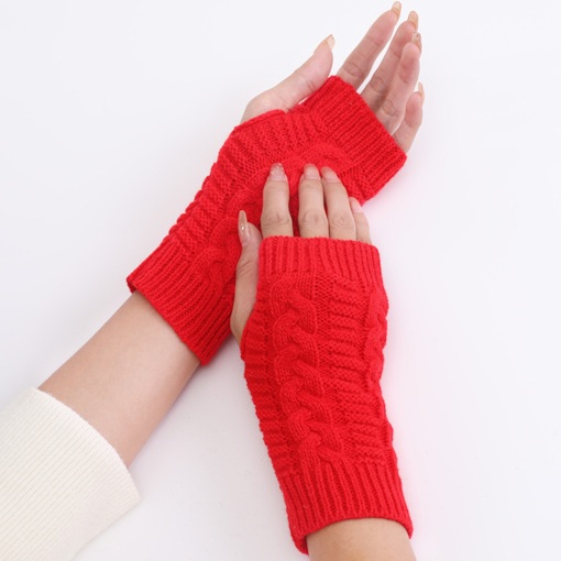 Simple Acrylic Plain Fall Gloves
