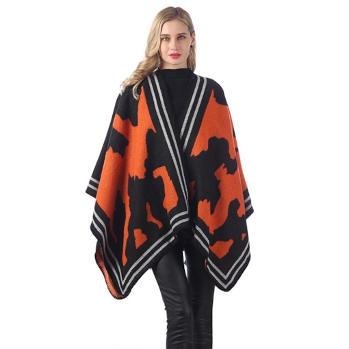 Imitation Cashmere Shawl Euroamerica Color Block Scarves