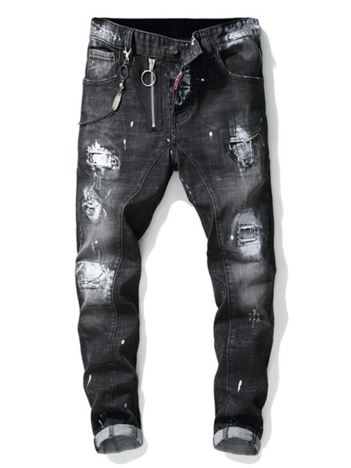 European Pencil Hole Men's Jeans
