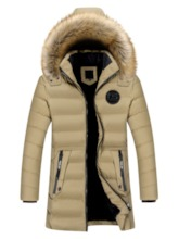 Mid-Length Letter Pocket European Men's Down Jacket