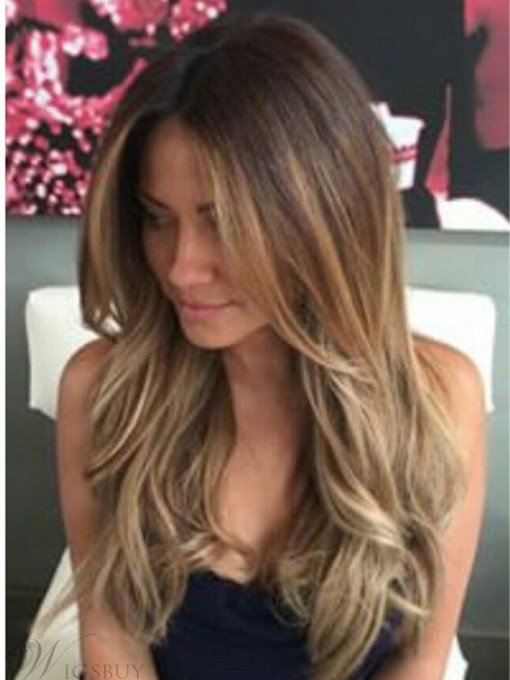 Capless Wavy Human Hair lace 120% 22 Inches Wigs