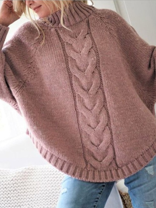 Thin Raglan Sleeve Patchwork Winter Women's Sweater