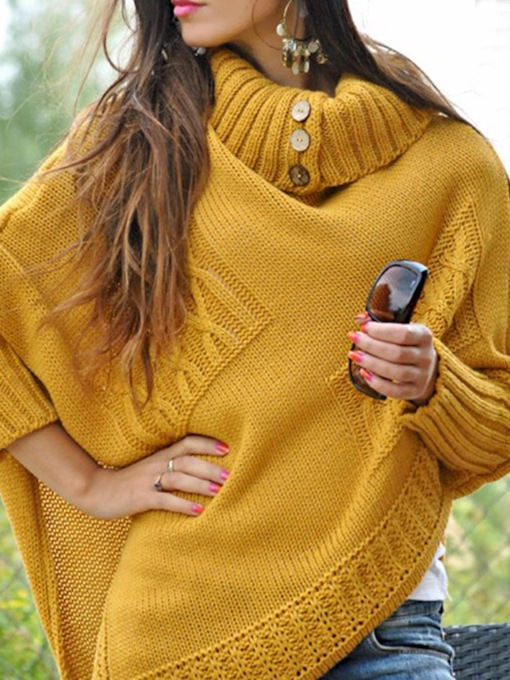 Batwing Sleeve Thin Patchwork Batwing Women's Sweater