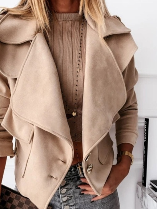 Slim Single-Breasted Thin Long Sleeve Lapel Women's Jacket
