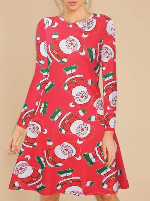 Sweet Print Long Sleeve Cartoon Polyester Women's Costumes