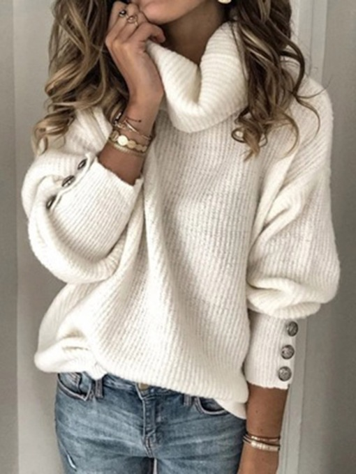 Standard Thin Regular Patchwork Long Sleeve Women's Sweater