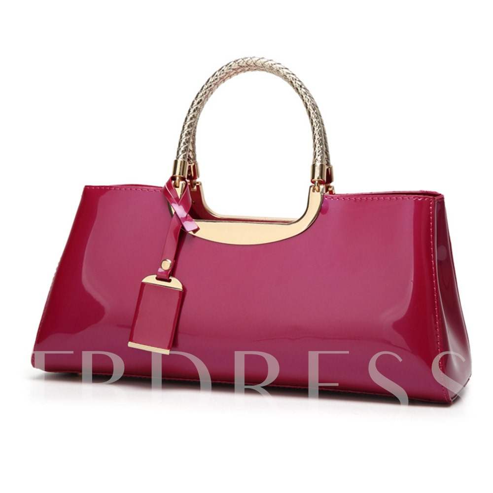 PU Candy Color Fashion Tote Bags