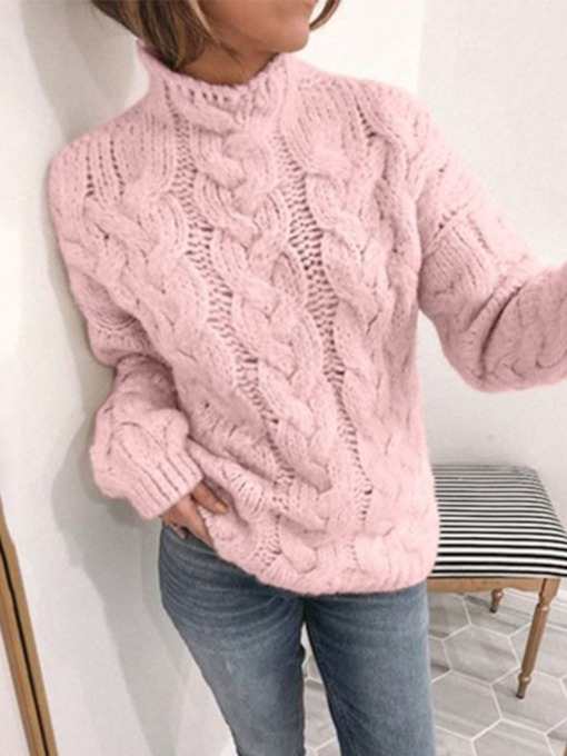 Polyester Thin Regular Hollow Long Sleeve Women's Sweater