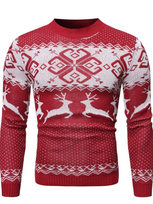 Christmas Standard Animal Slim Men's Sweater