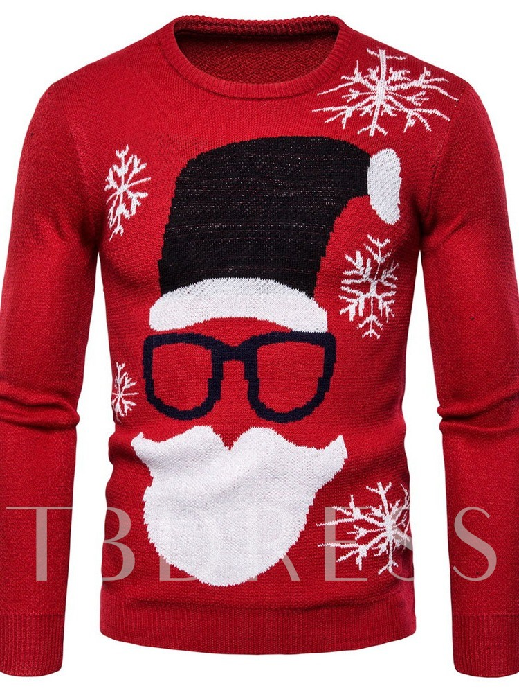Christmas Standard Round Neck Fall Men's Sweater