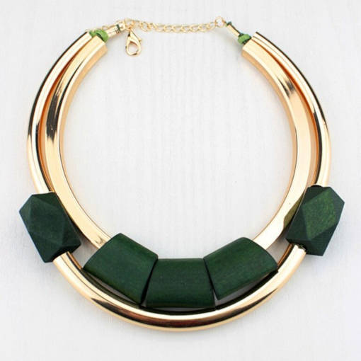 Geometric E-Plating European Female Necklaces