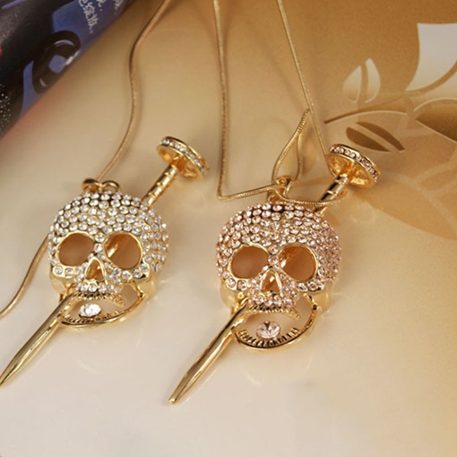 European Pendant Necklace Skull Female Necklaces