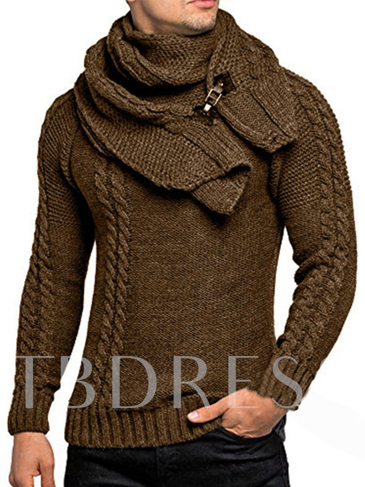 Plain Standard Slim Men's Sweater