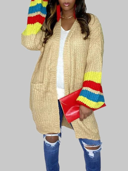 Loose Regular Patchwork Loose Women's Sweater