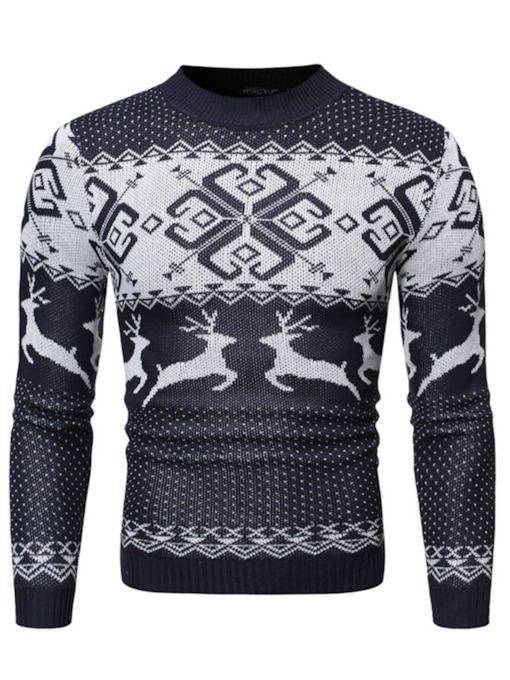 Christmas Cartoon Standard European Men's Sweater