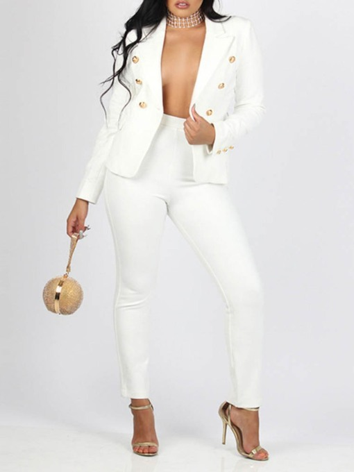Blazer Button Fashion Long Sleeve Women's Suit