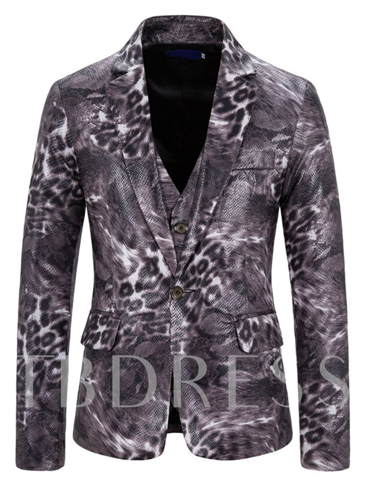 Vest Blazer Men's Dress Suit