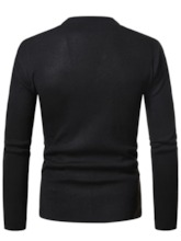 Button Standard Fall Men's Sweater