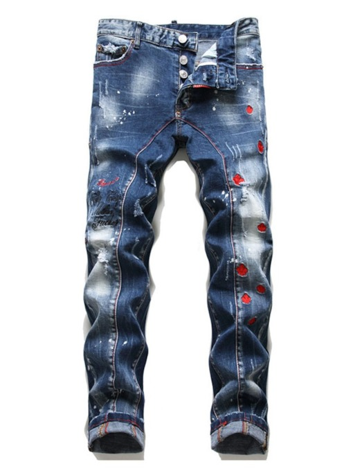 Hole European Slim Men's Jeans