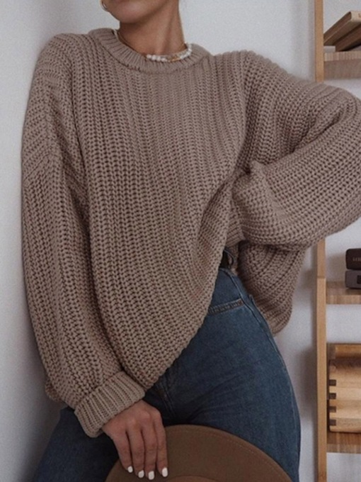 Pullover Regular Hollow Thin Long Sleeve Women's Sweater