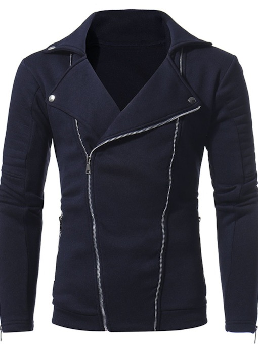 Plain Cardigan Casual Men's Hoodies