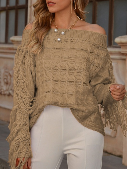 Thin Tassel Regular Slim Women's Sweater