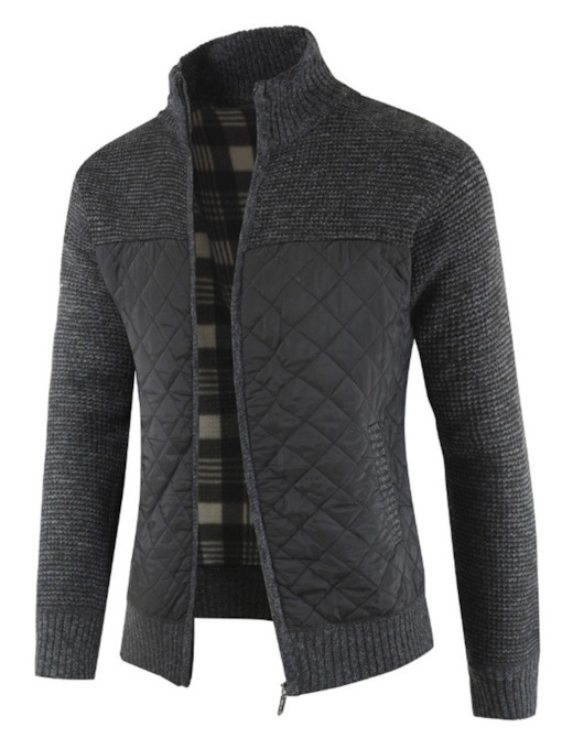Color Block Standard Patchwork Slim Men's Sweater