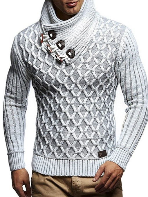 Geometric Turtleneck Standard England Men's Sweater