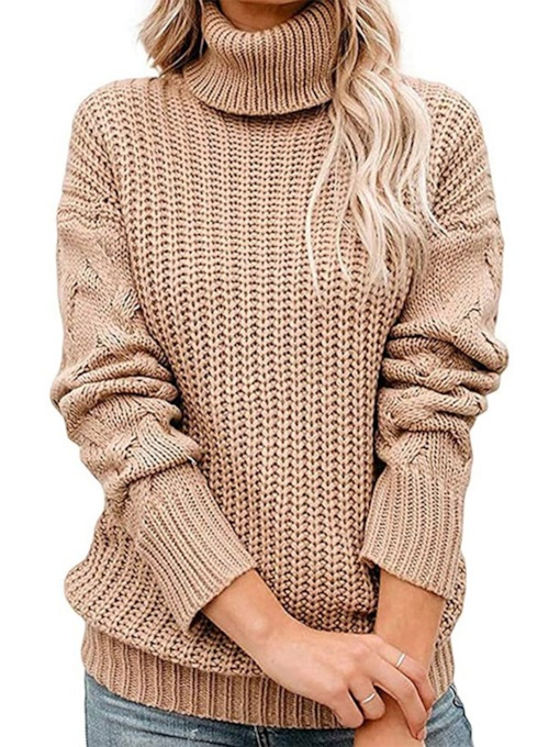 Thick Regular Patchwork Loose Women's Sweater