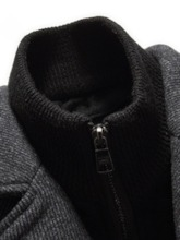 Standard Double-Layer Single-Breasted Men's Coat