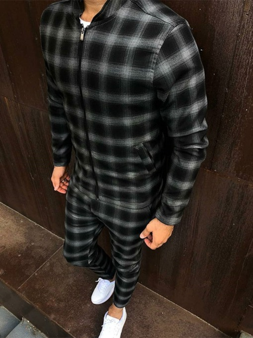 Jacket Plaid Sports Fall Men's Outfit
