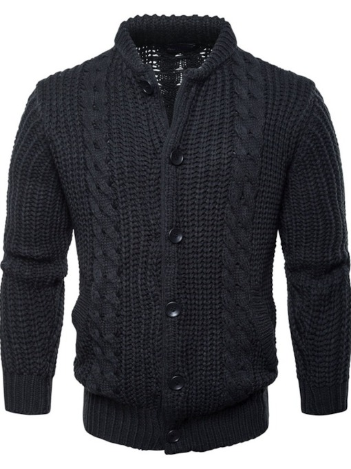 European Plain Regular Standard Slim Men's Sweater