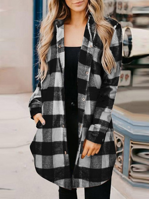 Loose Polyester Single-Breasted Loose Long Sleeve Lapel Women's Jacket