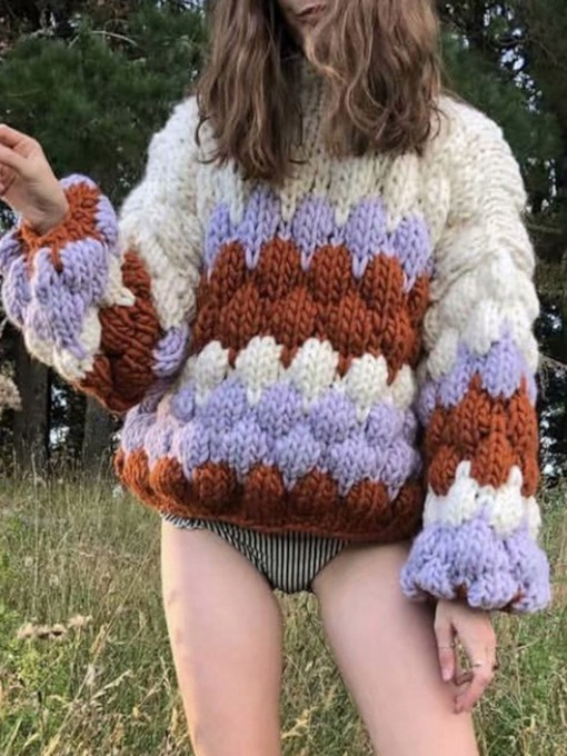 Thick Loose Pullover Women's Sweater