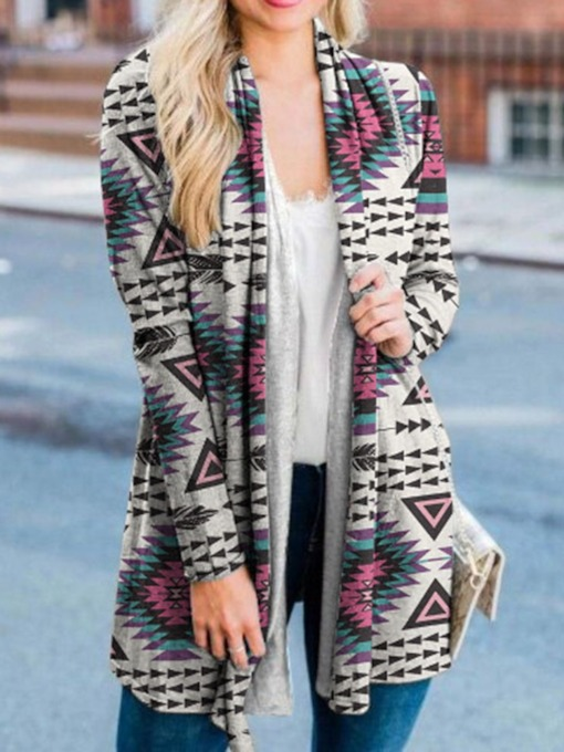 Slim Long Sleeve Fall Women's Knitted Cardigan