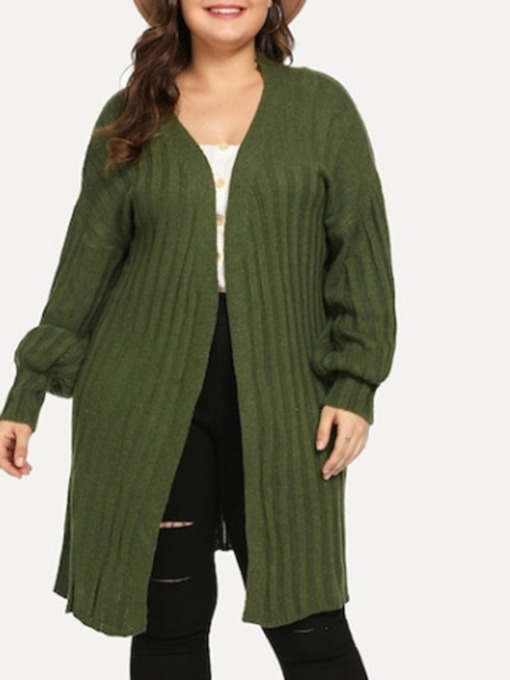 Lantern Sleeve Long Sleeve Women's Sweater Cardigan
